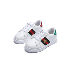 Cross border 2018 spring new boys` casual shoes Ko white The length within 26 yards is 15.5cm