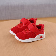 Fall 2017 new children`s sneakers girls` casual sh red 21