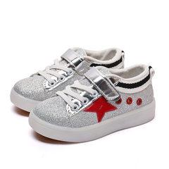 童鞋2017秋季新品儿童运动鞋男童休闲鞋女童LED发光鞋小童亮灯鞋 B-3红色 21