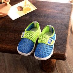春季新款透气网布童鞋 儿童运动鞋 软底魔术贴宝宝学步鞋厂家直销 蓝色 303(21~26码)