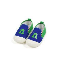 2018春季新款帆布儿童鞋时尚韩版宝宝学步鞋可爱字母男女童鞋批发 蓝色 B818 (21--25码)