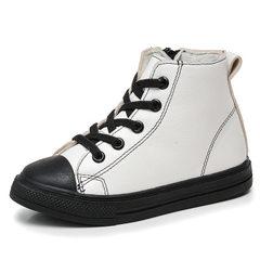 2017秋款新款儿童休闲鞋 男女童鞋 时尚学生鞋一件代发批发 白色 26