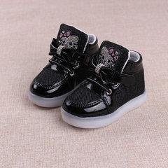 2017 new children`s shoes LED bright children`s sh black 21