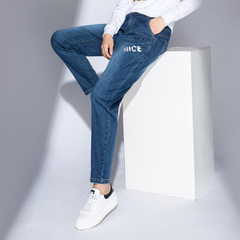 Hot style high-elastic jeans for women`s casual ni Light blue 29