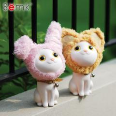 Semk Kitty piggy bank piggy bank creative honing c White/overlooking the cat