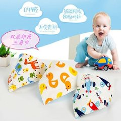 Wholesale baby triangle napkin baby double - layer Mixed color random hair