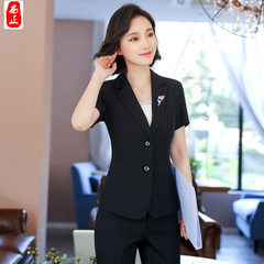 2018 spring and summer fashion white collar store  The black coat s