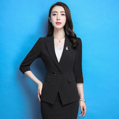 Spring and summer ol business suit business dress  A black suit, l