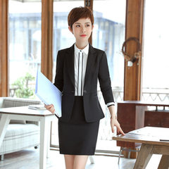 Autumn winter new women`s wear professional suit s Grey shirt 37 s
