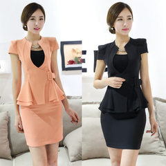 Professional dress women`s dress, skirt, fashion,  Orange (suit + skirt) s