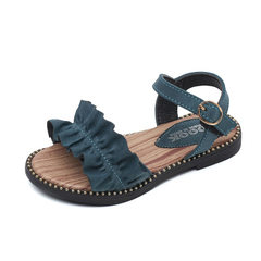 Summer 2018 new girls` sandals magic paste childre green The length within 26 yards is 15.6cm