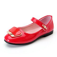 童鞋女儿童小皮鞋2018春夏秋新款女童公主鞋演出鞋学生舞蹈鞋单鞋 红色 26