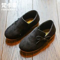 厂家直销2018春季新款儿童单鞋 女童鞋 小女孩英伦风豆豆公主鞋潮 WDL-77黑 21-25 1手5双