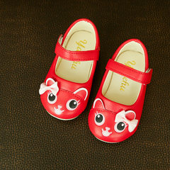 2017 children`s shoes autumn new girl single shoes red 21 yards -25 yards (5 pairs for each hand)