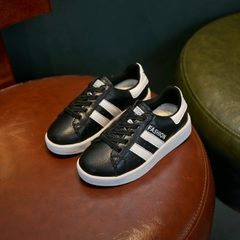 Children`s sneakers little white shoes boys` shoes black 26