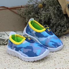 2018春季新款儿童网鞋 透气莱卡网布儿童鞋 防滑舒适男女童鞋批发 迷彩兰 2208(21--26) 码