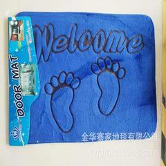 双色印花地垫 创意卡通3D毛绒地毯法兰绒彩印脚垫PVC门垫脚丫定制 1 40*60cm