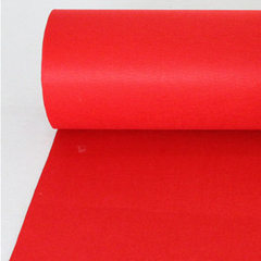 Factory direct sale of one-time red carpet wedding Red no. 1 bright-coloured breathable One meter wide and a roll of 100