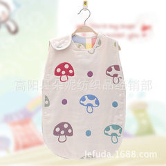 Pure cotton six - layer gauze sleeping bag childre The mushroom 40 cm * 60 cm