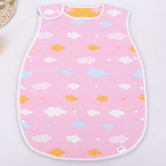 Pure cotton 4-6 layer gauze sleeping bag vest chil Six layers of colorful cloud powder 40 * 60