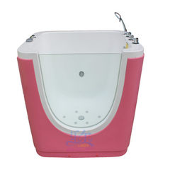 Protect baby swimming pool single side bubble tran pink The empty tank only contains drain switches