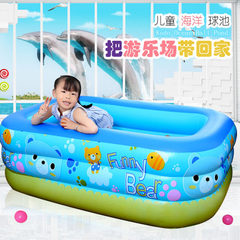 Dorman swimming pool children thicken the family`s The picture color PP bag 1.2 m 2 layer bubble bottom