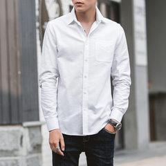 Oxford spinning men`s shirt 2018 spring/summer new white S / 38