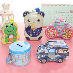 Wholesale children`s piggy bank creative award kin A round can holds money