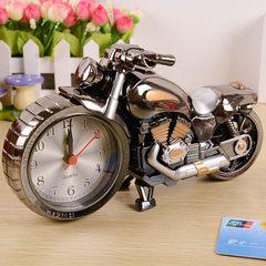礼品爆款 4款摩托车闹钟 卧室时钟创意家居礼装饰 学生热爆赠品 PF168A(乌金双色)