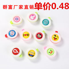 Creative cartoon anti-mosquito button natural vege Mosquito repellent button solid hair mix