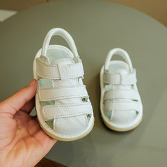 Children`s sandstand shoes with soft soles for bao white 15