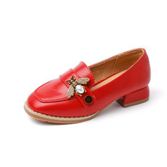 New girl princess children`s shoes children`s Kore red 26