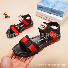 Men`s and girls` sandals 2018 new children`s beach red 28