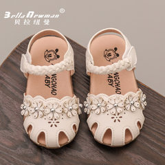 Korean version of sweet girl`s shoes baby shoes 20 905 white 15-19 one hand, 5 pairs