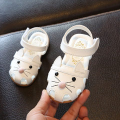 Summer 2018 new children`s sandals girls` sandals  white 21-25 yards / 5 pairs per hand