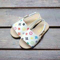 New style sandals for boys and girls, baby steps,  white 21-25 yards, 5 pairs for each hand