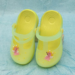 Children`s shoes summer new children`s jelly hole  Apricot yellow 24 to 29