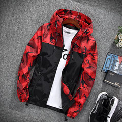 Men`s coat spring and autumn 2018 new men`s casual red m