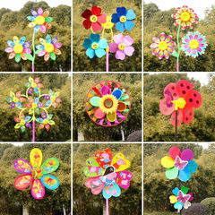 2018 new light windmill toys led flash colorful wi Little sunflower windmill