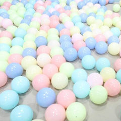 海洋球波波球环保加厚儿童宝宝游乐场百万球7CM8CM球厂家批发 7-10色混搭发货 5.5cm食品级PE加厚