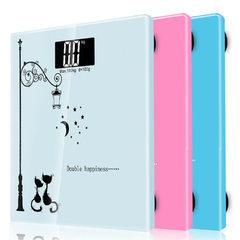 企鹅电子秤 人体体重秤 家用健康秤 礼品秤 经典方秤 可印logo 随机发货  指定颜色联系客服