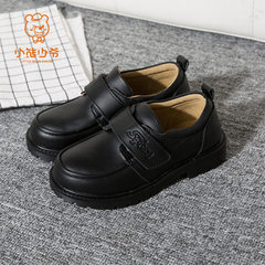 Little bear`s new children`s shoes boy black shoes black 40