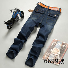 Men`s jeans trim straight casual winter wear men`s 6699 28 yards /2 feet 1