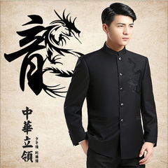 The Korean version of the men`s casual suit with s Single coat XXXXL