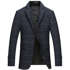 The new spring and autumn men`s casual suit with p Deep blue 170 / M