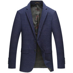 Spring and autumn new style men`s suit youth trim  blue 170 / M