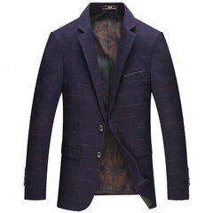 2018 spring and autumn new men`s casual suit jacke purple 170 / M