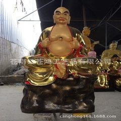 Customized Buddha statue large glass steel 18 roha 1.3