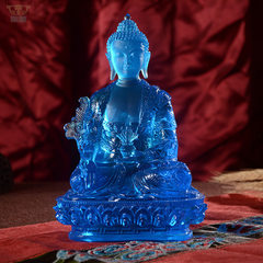 Shengjian glass factory direct selling glass pharm Blue 30 cm high