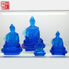 Guangzhou glass Buddha manufacturer, glass medicin The specification is 9cm high